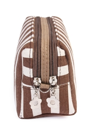Riah Fashion Striped Cosmetic Pouch - Front full body