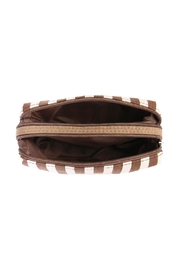 Riah Fashion Striped Cosmetic Pouch - Side cropped