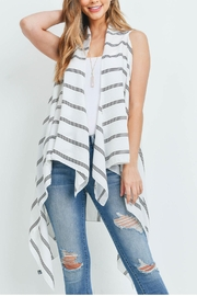 Riah Fashion Striped-Print-Kimono-Vest - Front cropped