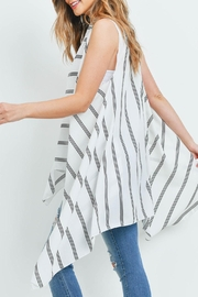 Riah Fashion Striped-Print-Kimono-Vest - Other