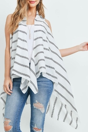 Riah Fashion Striped-Print-Kimono-Vest - Back cropped