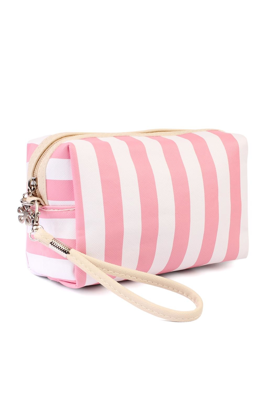 Riah Fashion Striped Print Pouch - Front Cropped Image