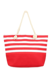 Riah Fashion Striped Tote Bag - Front cropped