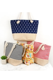 Riah Fashion Striped Tote Bag - Other