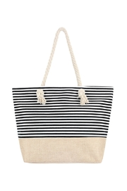 Riah Fashion Striped Tote Bag - Product Mini Image