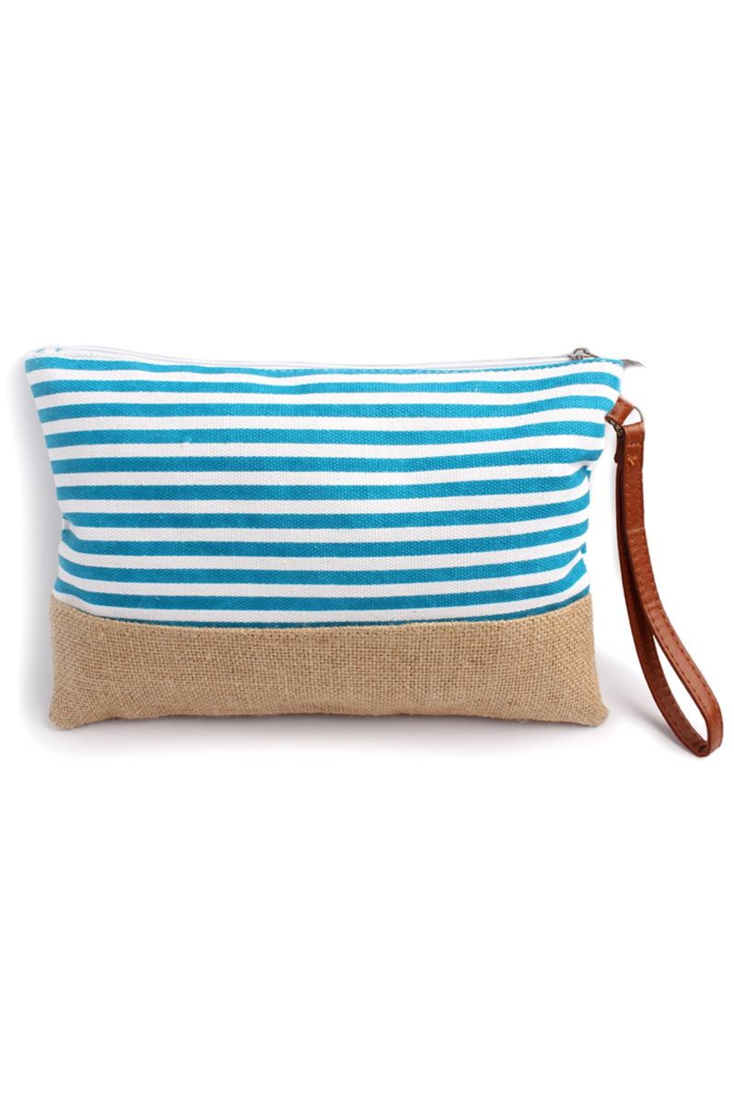 Riah Fashion Striped Wrislet Pouch - Front Cropped Image