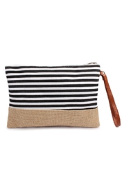 Riah Fashion Striped Wristlet Pouch - Front cropped