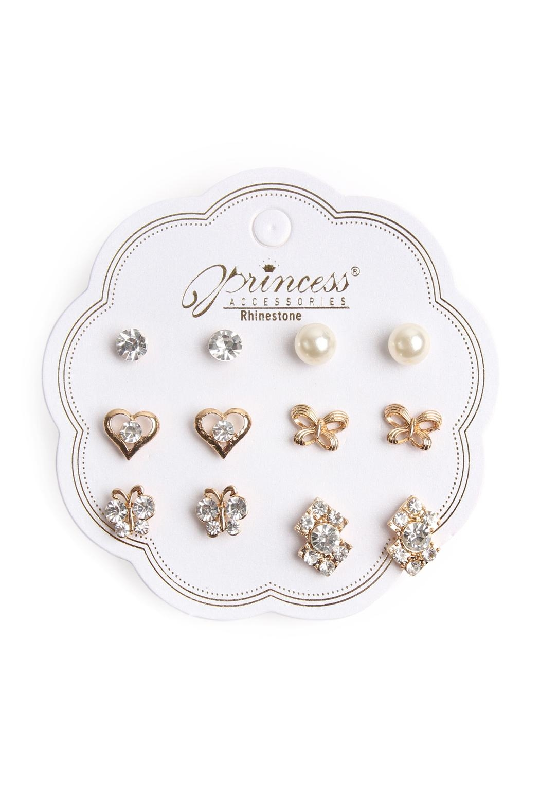 Riah Fashion Stud Earrings Set - Front Cropped Image