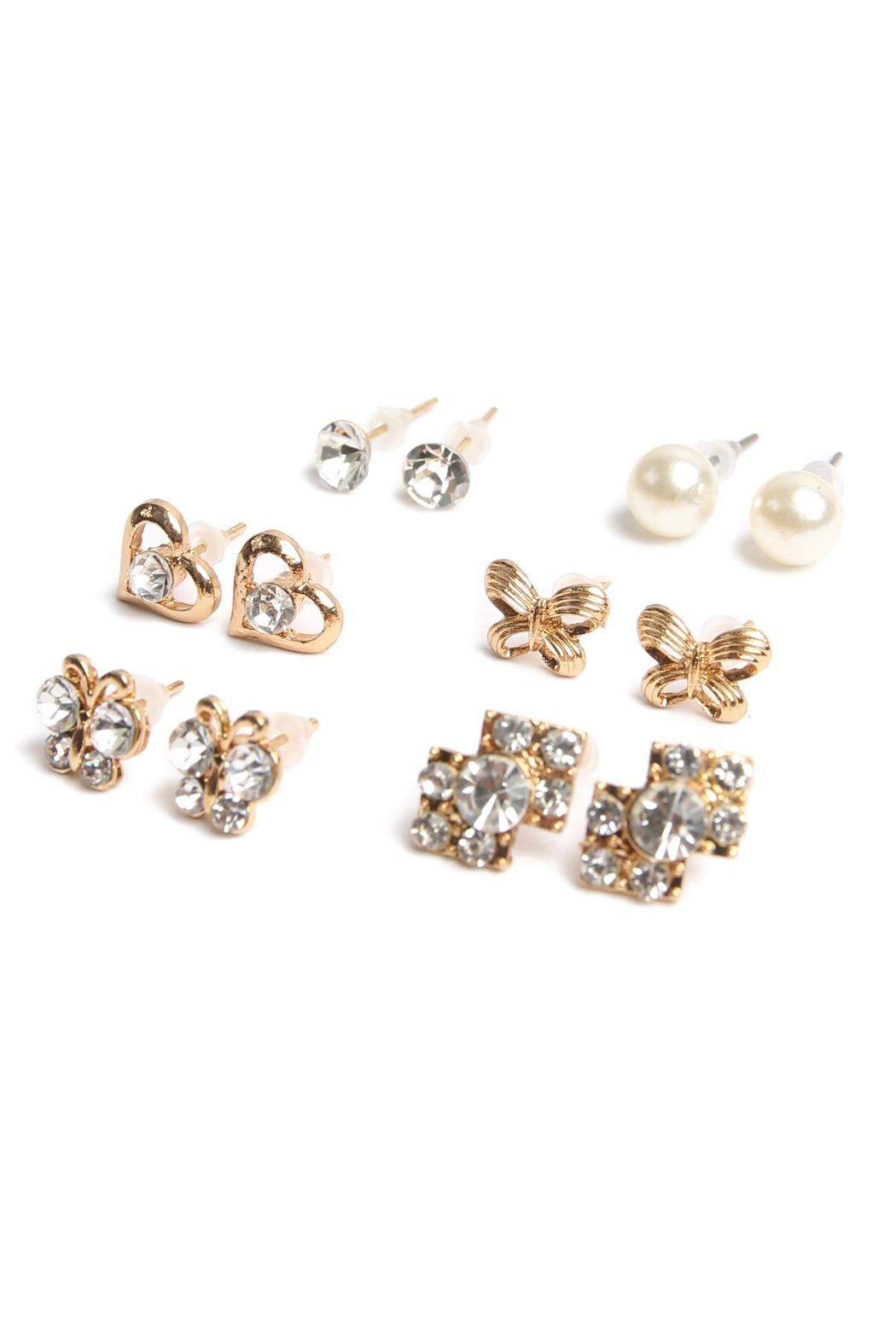 Riah Fashion Stud Earrings Set - Side Cropped Image