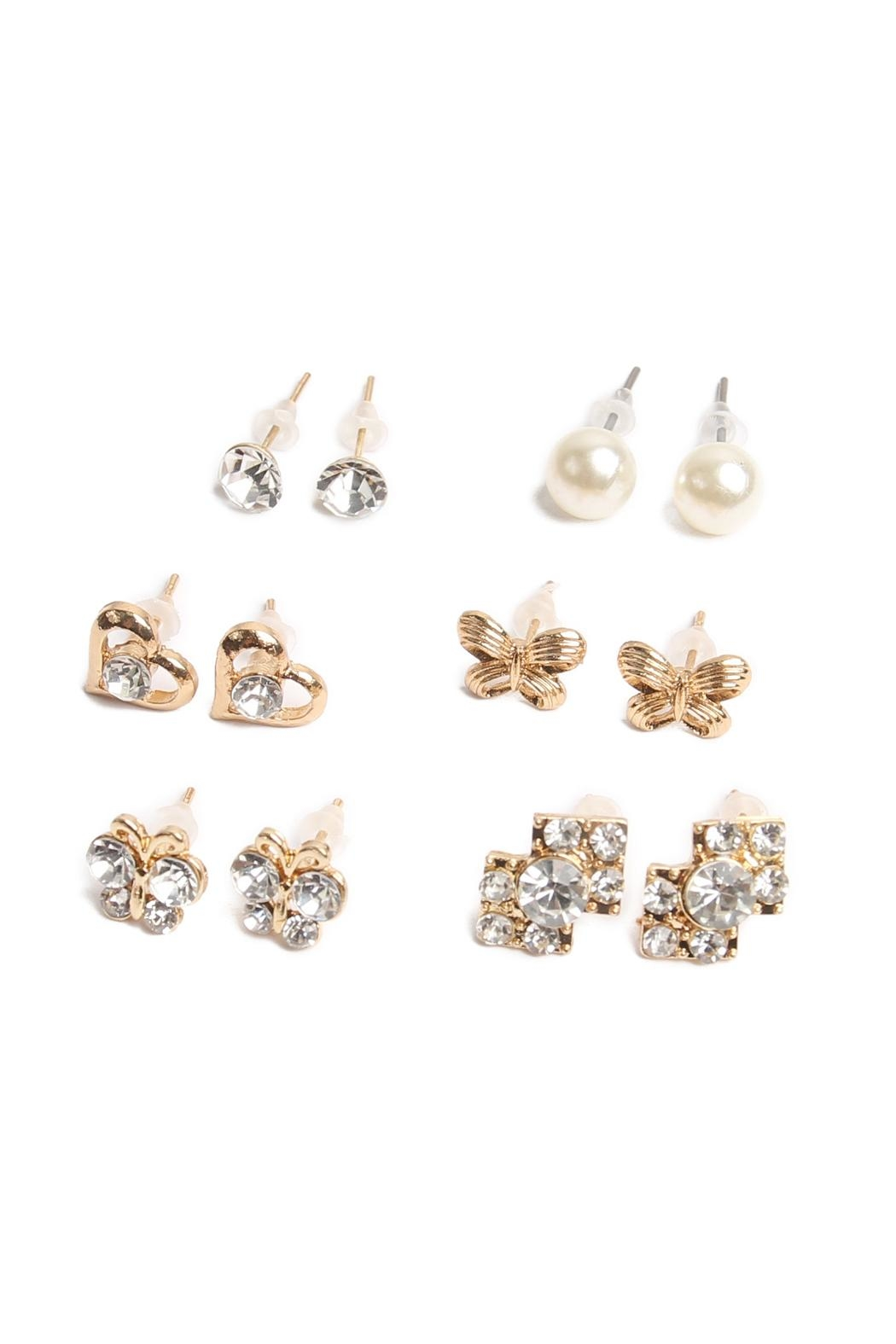 Riah Fashion Stud Earrings Set - Front Full Image