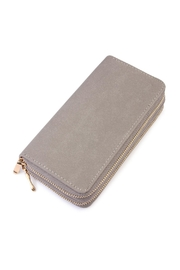 Riah Fashion Grey Faux Suede Wallet - Product Mini Image