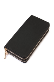 Riah Fashion Black Faux Suede Wallet - Product Mini Image