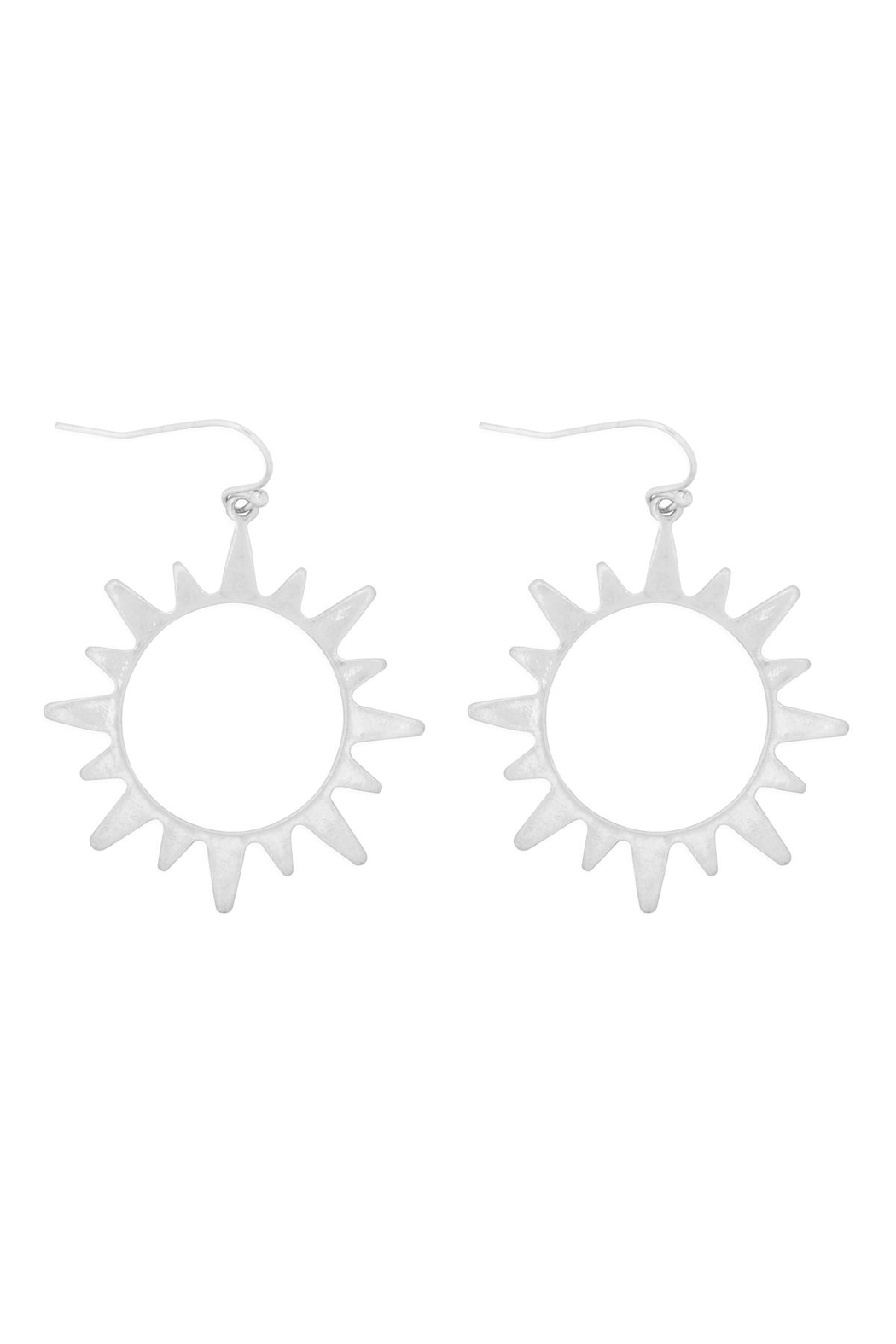 Riah Fashion Sun Cast Earrings - Front Cropped Image