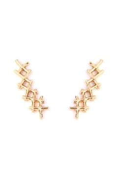 Shoptiques Product: Tapered-Cross Crawler Earring
