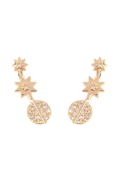Shoptiques Product: Tapered-Stars Crawler Earring