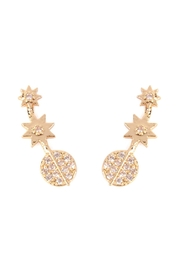 Riah Fashion Tapered-Stars Crawler Earring - Product Mini Image