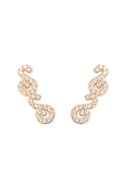 Riah Fashion Tapered-Swirls Crawler Earring - Front cropped