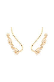 Riah Fashion Tapered-Swirls Crawler Earring - Front full body