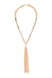 Riah Fashion Tassel Bar Necklace - Product Mini Image