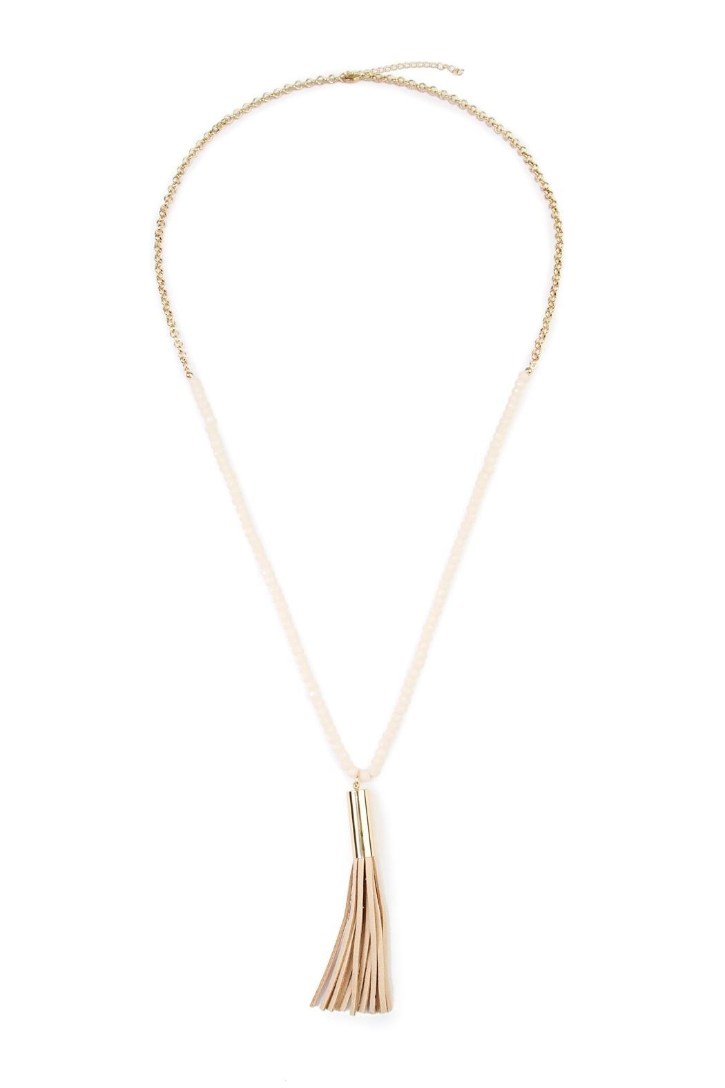 Riah Fashion Tassel Bead Necklace - Front Cropped Image