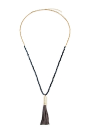 Riah Fashion Tassel Bead Necklace - Front cropped