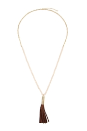 Riah Fashion Tassel Bead Necklace - Product Mini Image