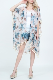 Riah Fashion Tassel Floral-Print Sheer-Cardigan - Product Mini Image