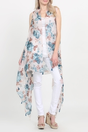 Riah Fashion Tassel Floral-Print Vest-Cardigan - Product Mini Image