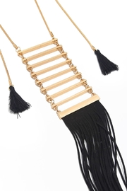 Riah Fashion Tassel Ladder Necklace - Front full body