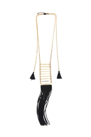 Riah Fashion Tassel Ladder Necklace - Product Mini Image