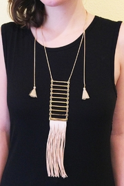 Riah Fashion Tassel Ladder Necklace - Side cropped