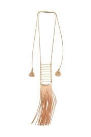 Riah Fashion Tassel Ladder Necklace - Front cropped
