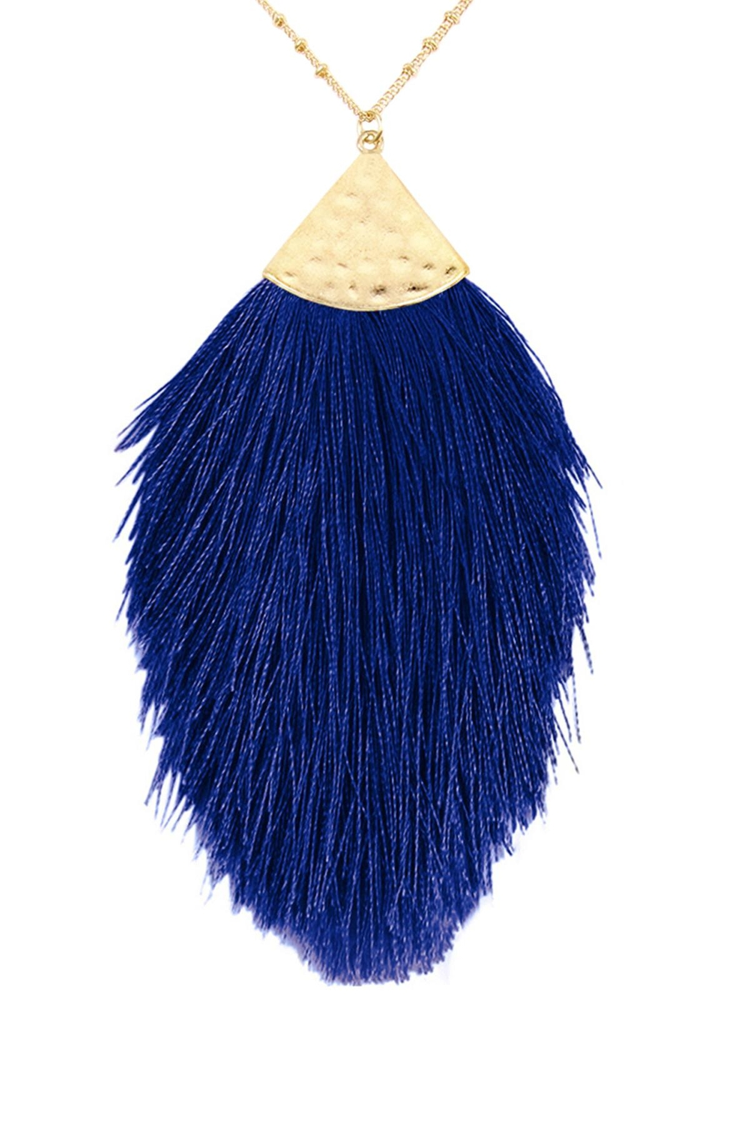 Riah Fashion Tassel-Pendant-Dainty-Necklace - Front Cropped Image