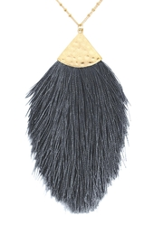 Riah Fashion Tassel-Pendant-Dainty-Necklace - Front cropped