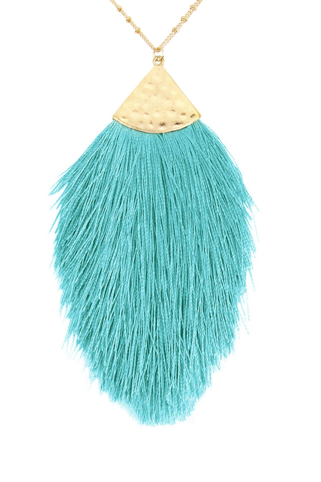 Riah Fashion Tassel Pendant Necklace - Front Cropped Image