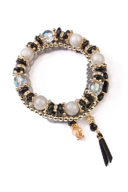 Riah Fashion Tassel Stretch Bracelet - Front cropped