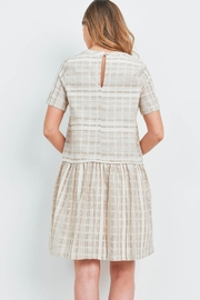 Riah Fashion Taupe Dress - Front full body