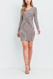 Riah Fashion Taupe Stripes Dress - Other