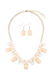 Riah Fashion Teardrop Beaded Necklace Set - Front cropped