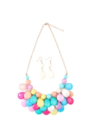 Riah Fashion Colorful Bubble Necklace Set - Front cropped