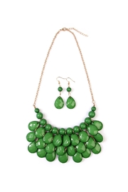 Riah Fashion Green Bubble Necklace Set - Product Mini Image