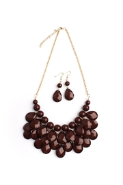 Riah Fashion Brown Bubble Bib Necklace-Set - Product Mini Image