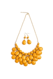 Riah Fashion Yellow Bubble Necklace Set - Product Mini Image