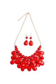 Riah Fashion Teardrop Bib Necklace Set - Product Mini Image