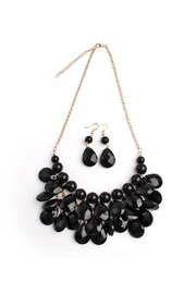 Riah Fashion Teardrop Black Necklace Set - Product Mini Image