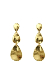 Riah Fashion Teardrop Burnish-Gold Matte-Earrings - Product Mini Image
