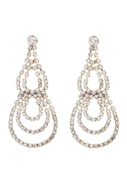Riah Fashion Teardrop Chandelier Earrings - Product Mini Image