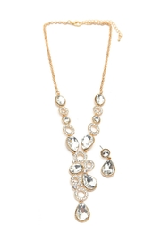 Riah Fashion Teardrop Crystal Necklace Set - Product Mini Image