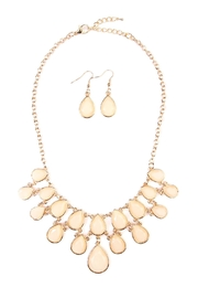 Riah Fashion Teardrop Necklace Earring Set - Product Mini Image