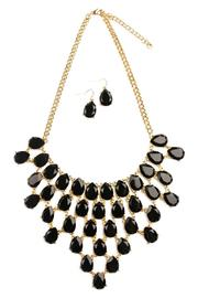 Riah Fashion Teardrop Statement Necklace - Product Mini Image